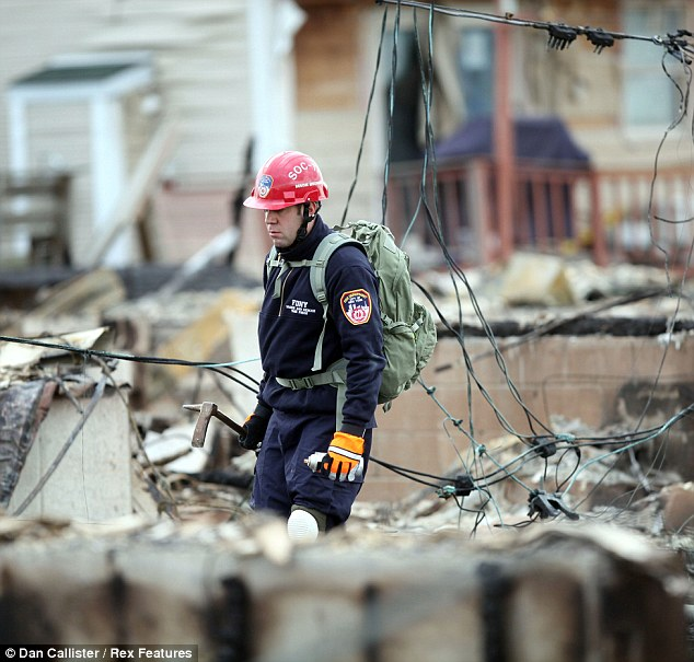 Carnage: The devastation left by Super Storm Sandy at Breezy Point, Queens, New York