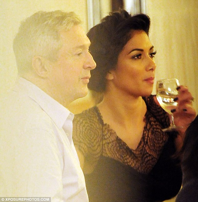 Friends backstage: Nicole was joined by fellow judge Louis Walsh for the dinner at London's C Restaurant