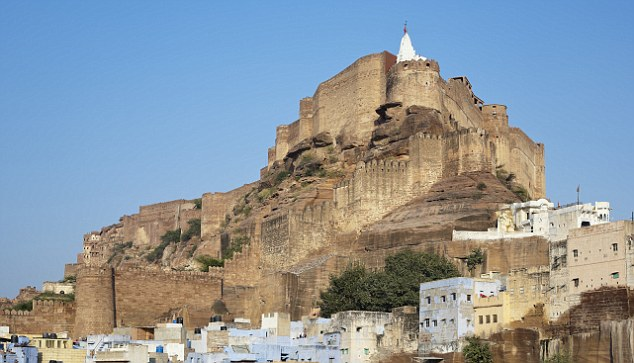 Majestic: Mehrangarh Fort rising above the old city of Jodhpur. It will be the setting for Naomi Campbell's boyfriend's party