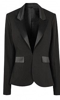 Black jacket with satin trim: £50