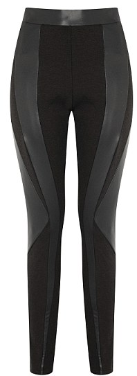 Leggings with leather panels: £28
