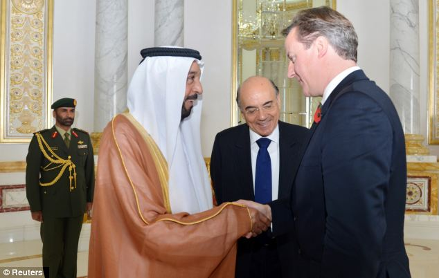 Mr Cameron gave an interview on Syria ahead of talks with the President of the United Arab Emirates Sheikh Khalifa bin Zayed bin Sultan Al Nahyan