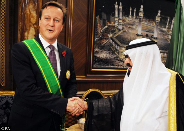 David Cameron met King Abdullah of Saudi Arabia for talks today, when Syria was high on the agenda