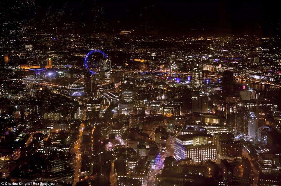 Do look down the view is dazzling Londons skyline