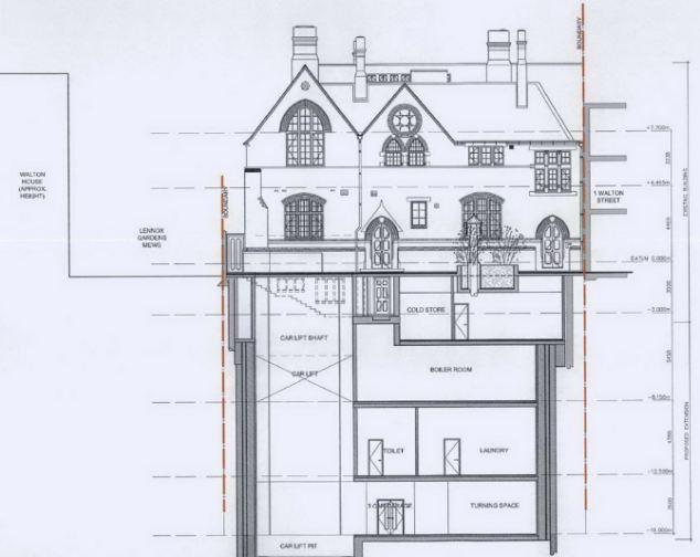 David Graham's 4-storey Knightsbridge mansion almost