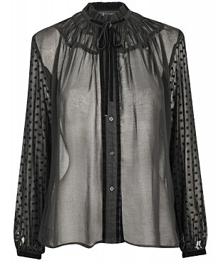 Sheer spot blouse: £35