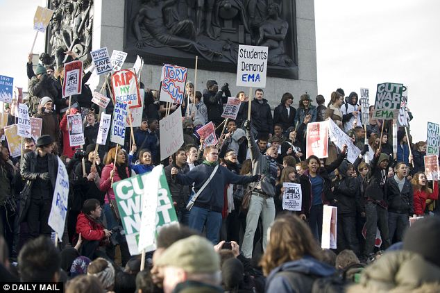 Blackout: Students protest against education cuts. The new technology would allow police and other agencies to shut off the camera functions of protesters' smartphones