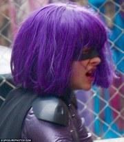 chloe moretz dons purple wig