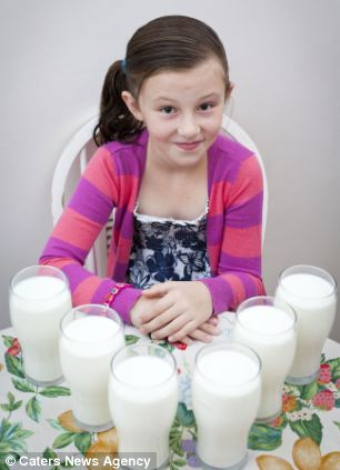 Nine-year-old Holly Lindley has glycogen storage disease, which means her body cant convert the food she eats into energy
