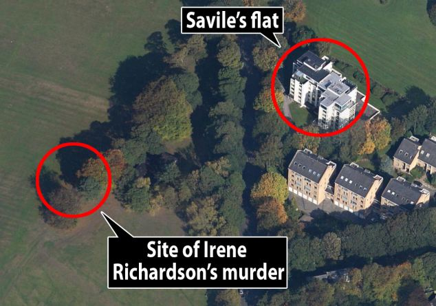 Close: The BBC star's home is very near to where Sutcliffe dumped one of his victims - as the Ripper mentioned in a police interview