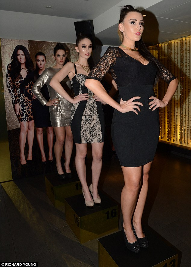 And pose: The 'Kimbots' all pouted to perfection in their various Kardashian Kollection ensembles