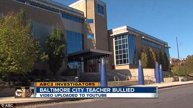 Scene: The teacher was a substitute at Digital Harbor High School, a magnet school in Baltamore, Maryland when the bullying occurred last week