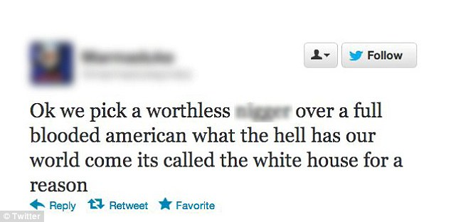 Look back in anger: Another Twitter user tweeted his thoughts