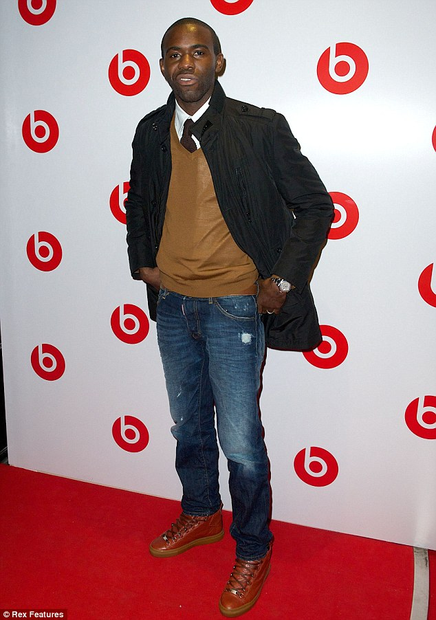 Back on the scene: Former professional footballer Fabrice Muamba also attended the party which was held to launch Dr Dre's new Beats headphones