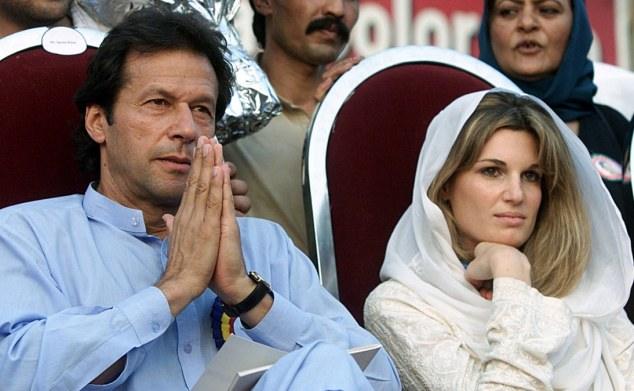 Separated: Imran Khan divorced from his wife Jemima in 2004 after ten years of marriage