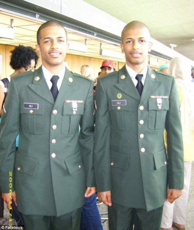 Slain: More than four years after the murder of 19-year-old Wasel Ali, his identical twin brother Wael, both pictured together, has been released on a charge of first-degree murder