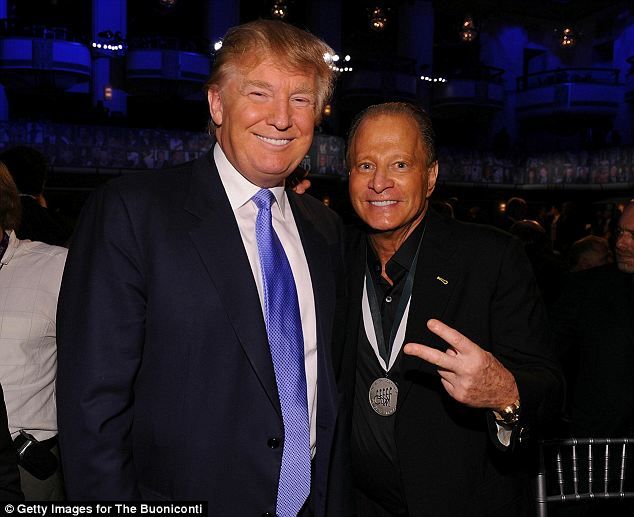 Similar skin colors: Rahr, seen here with close friend Donald Trump, also sent the real estate mogul the email complaining about the service he received at Nobu