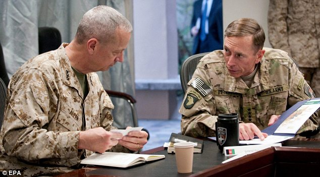 Successor: Allen last year took over from Petraeus as head of Western troops in Afghanistan
