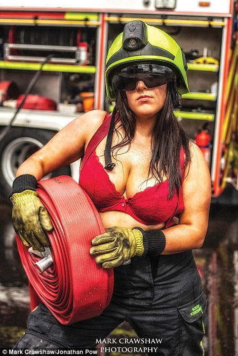 Female firefighters from South Yorkshire do Britains