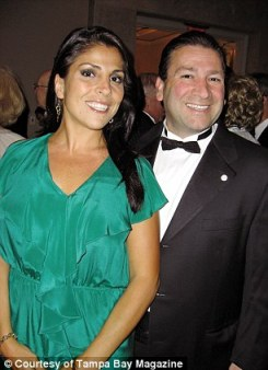 Jill Kelley with her husband Dr. Scott Kelley (left and right) at social functions in Tampa, Florida before the David Petraeus scandal struck