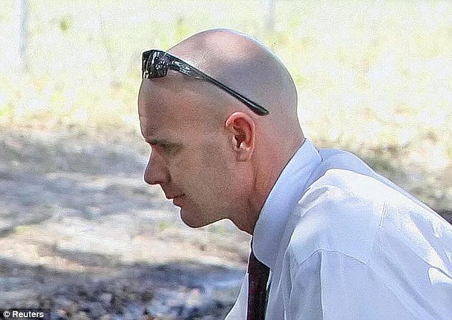 FBI special agent Frederick Humphries is shown at a crime scene in Tampa, Florida, in this April 12, 2007 file photo courtesy of the Tampa Bay Times