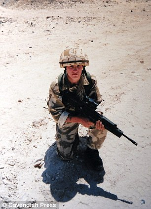 Former soldier David De Souza in Oman in 1993