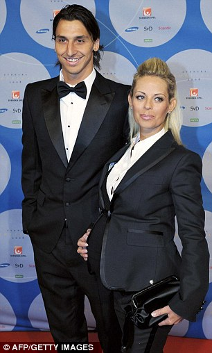 Ibrahimovic poses with his then pregnant girlfriend Helena Seger in 2008. Seger is said to be the only person that can calm Ibrahimovic down
