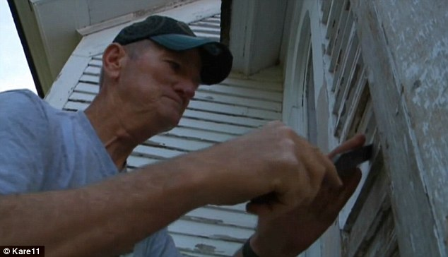 Serenity: Greg Thomas, a cancer survivor, works on restoring the 126-year-old church he stumbled upon