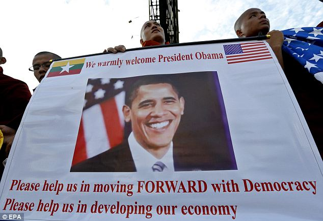 Expectations: Obama will meet separately in Myanmar with Prime Minister Thein Sein, who has orchestrated much of his country's recent reforms