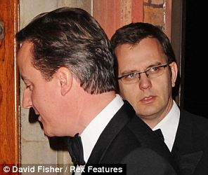 Close: Coulson became Cameron's spin chief in 2007