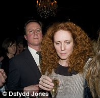 Top friends: Rebekah Brooks' friendship with David Cameron has been well publicised. Here they are pictured together at the book launch for Citizen by her husband Charlie