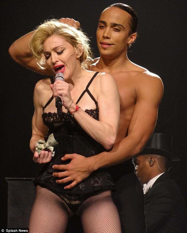 Great shape: Madonna looks fantastic but she'd look as great in any other stage costume