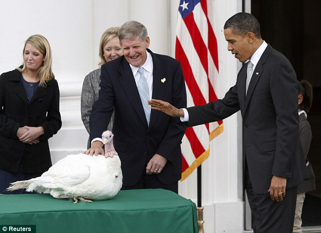 Pardoning: Obama pardons Courage the National Thanksgiving Turkey in 2009