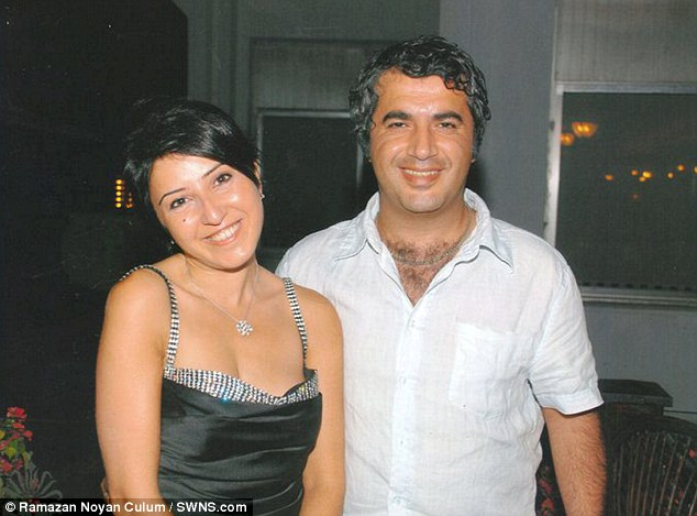 Infatuation: Culum, a businessman (pictured here with another woman) became obsessed with Murray after she served him in a Cypriot restaurant when he was on a scuba diving holiday in 2005