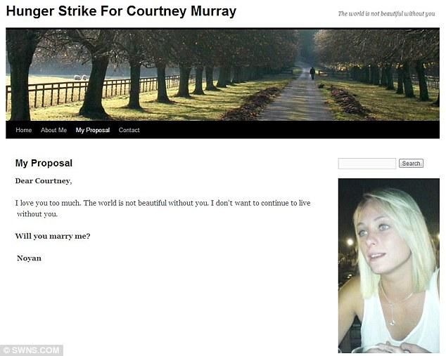 Hunger strike: This was the 'proposal' posted on Culum's blog