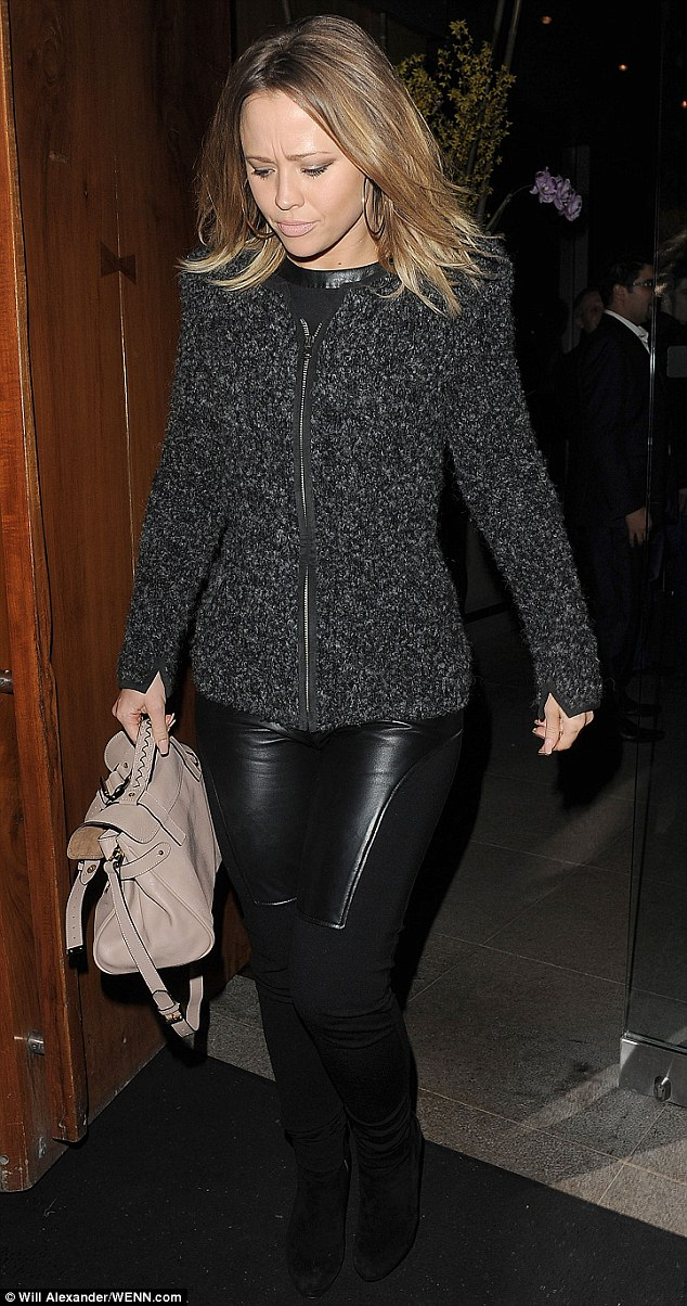 Dancing queen! Kimberley Walsh looked amazing in leather