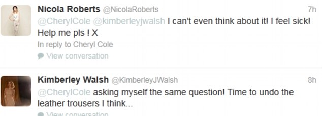 Too much information! Kimberley gets a bit too personal on Twitter