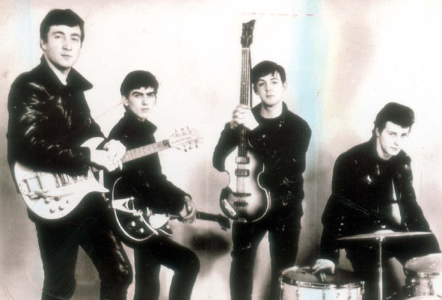 The Silver Beatles: from left, John Lennon, George Harrison, Paul McCartney and Pete Best, before Ringo joined the band