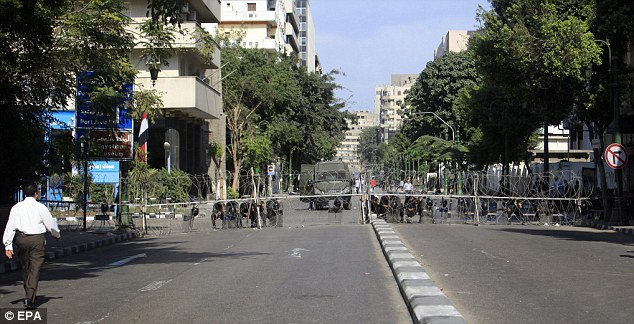 Protests were taking place today across Cairo after noon prayers had finished