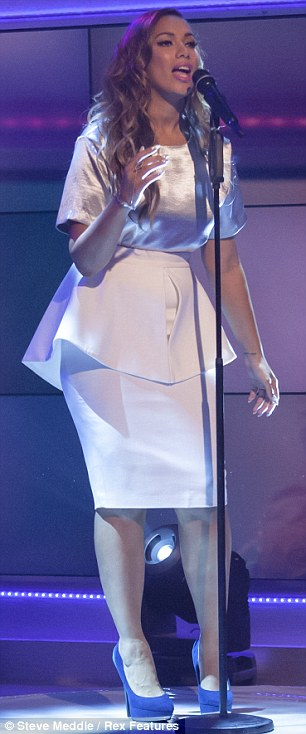 Sack the stylist: Leona looks bigger than she is in her shapeless dress
