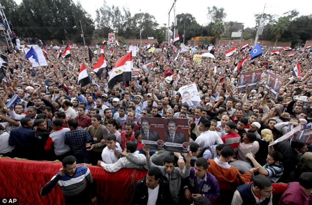 aPresident Mohammed Morsi's policies are driving a wedge between religious and democracy groups