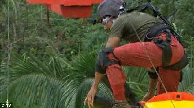 Stunt: David has to climb on to the wing of the plane to continue doing the task