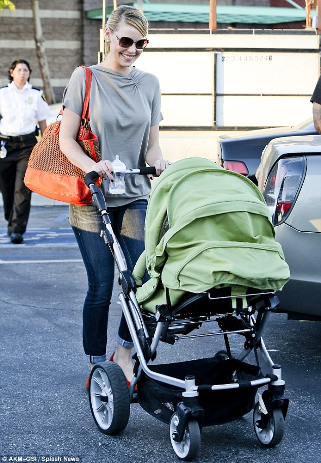 Family day out: Heigl's husband Josh Kelley and her daughter Adalaide Marie Hope were also out for the shopping trip