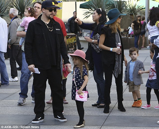 Celebrity skin: Nicoel Richie and husband Joel Madden took children Harlow  and Sparrow to see the show ...