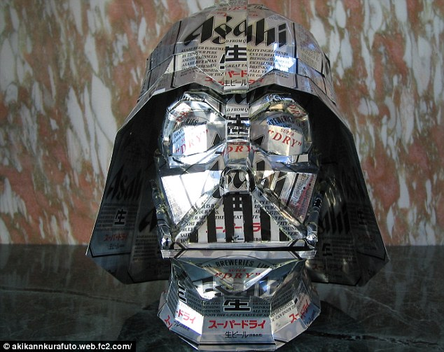 The force is with him: The mask of Darth Vader the Star Wars villain