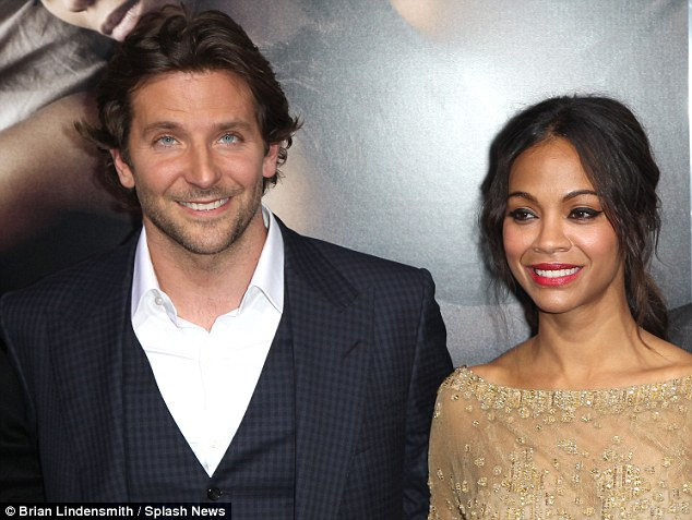 Awkward: Zoe and Bradley at The Los Angeles premiere of The Words earlier in September when they were apparently still separated