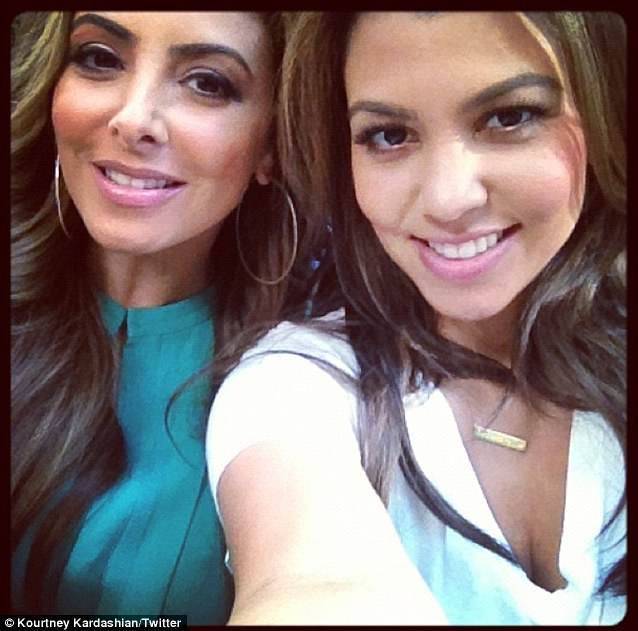 Kardashian BFF: On Saturday, Larsa hung out with Kim's older sister and fellow mother Kourtney