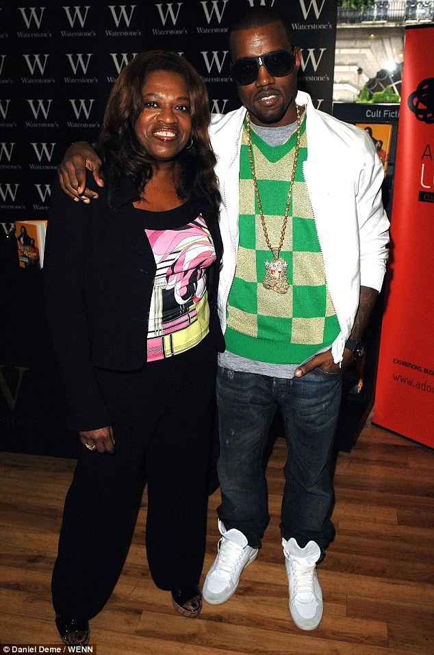 Memories: Rapper Kanye West with his mother Donda back in 2007; she passed away five years ago