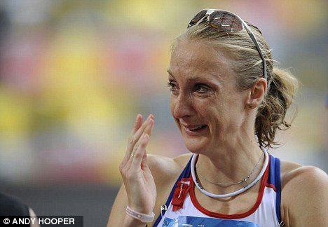Tears: Paula Radcliffe finished the 2008 Olympic marathon in 23rd place