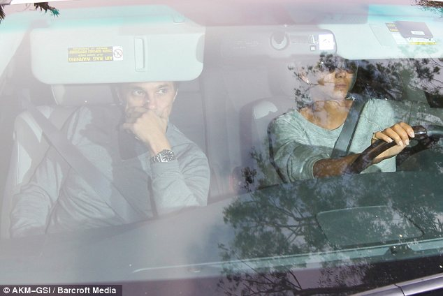 Battle stations: Aubry has already been slapped with a protective order preventing him coming within 100 yards of Martinez, Halle Berry and his daughter Nahla